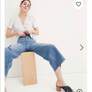Madewell Wide Leg Crop Pant